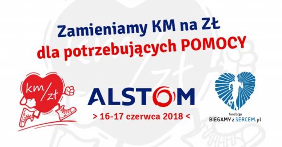 Alstom przekazał 63 000 złotych dla potrzebujących Problemy społeczne, BIZNES - Prawie 1 700 osób, biegając, jeżdżąc na rowerze, uprawiając nordic walking oraz inne dyscypliny sportowe, wspólnie pokonało 63 000 kilometrów.