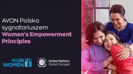 Avon Polska włącza się do inicjatywy ONZ na rzecz równości płci Problemy społeczne, BIZNES - Avon jako pierwszy w branży w Polsce dołącza do inicjatywy ONZ, Women's Empowerment Principles. WEPs określają siedem kroków, które firmy mogą podjąć w celu promowania równości płci i pełnego uczestnictwa kobiet na rynku pracy i w społeczeństwie.